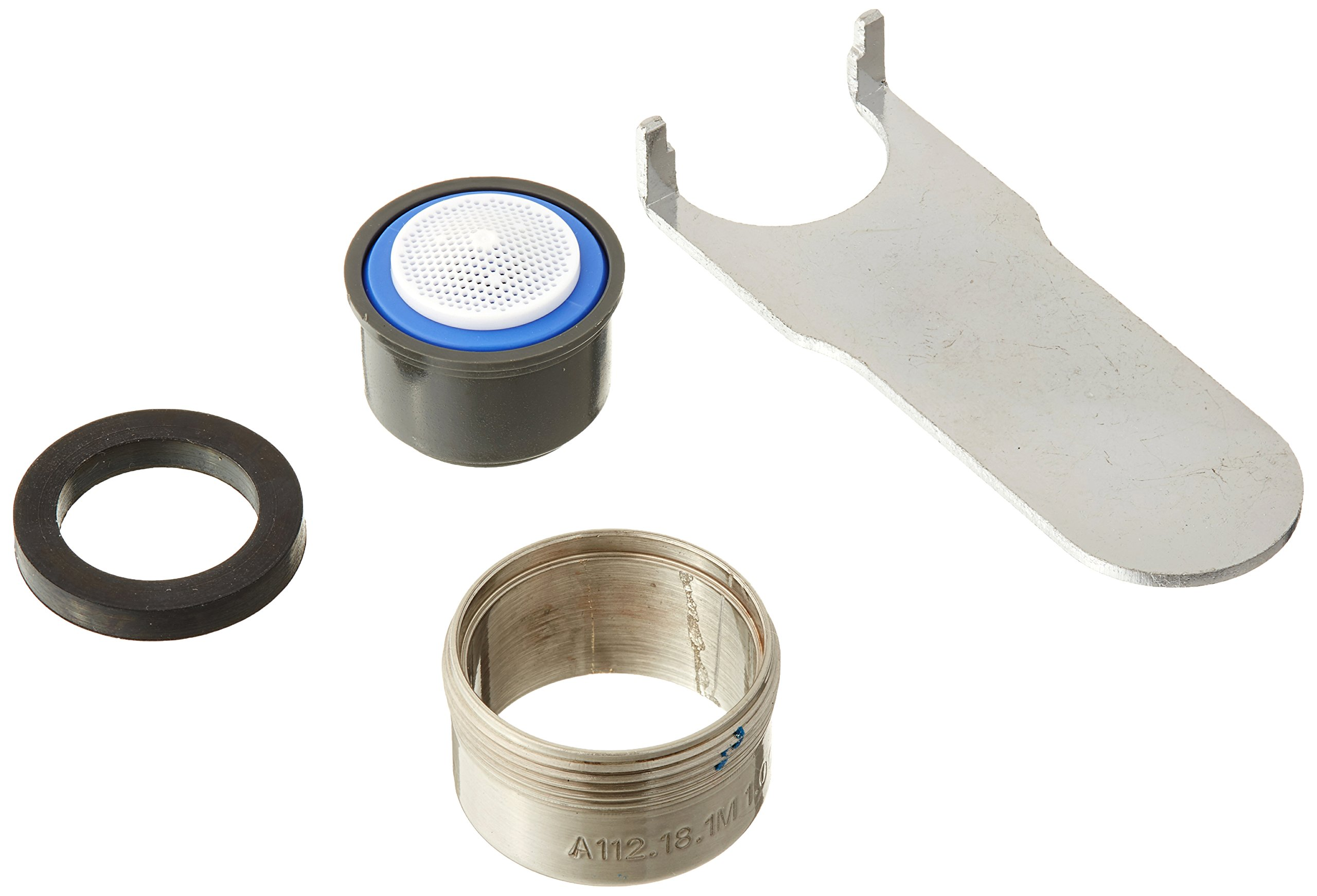 Danze DA613082NBN Standard Male Faucet Aerator Kit with Spray Flow Pattern, 1.0 GPM, Brushed Nickel