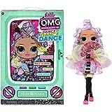LOL Surprise OMG Dance Dance Dance Miss Royale Fashion Doll with 15 Surprises Including Magic Black Light, Shoes, Hair Brush,