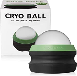 Cold Massage Roller Ball by Phyya Rehab - Professional Rehab Cold Therapy Relief That Helps with Muscles Recovery and Inflammation - Great for Back/Neck Pain - Shin Splints