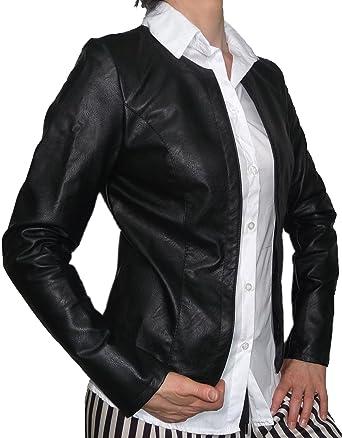 giacca donna in pelle leggera