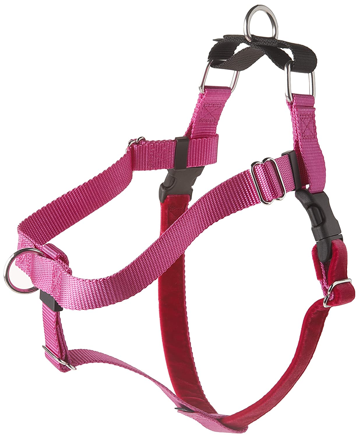 Raspberry Large Raspberry Large 2 Hounds Design Freedom No-Pull Dog Harness, Adjustable Comfortable Control for Dog Walking, Made in USA (Leash Sold Separately) (Large 1 ) (Raspberry)