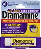 Pepcid Dramamine Less Drowsy Formula Motion Sickness Relief Tablets, 8 Count