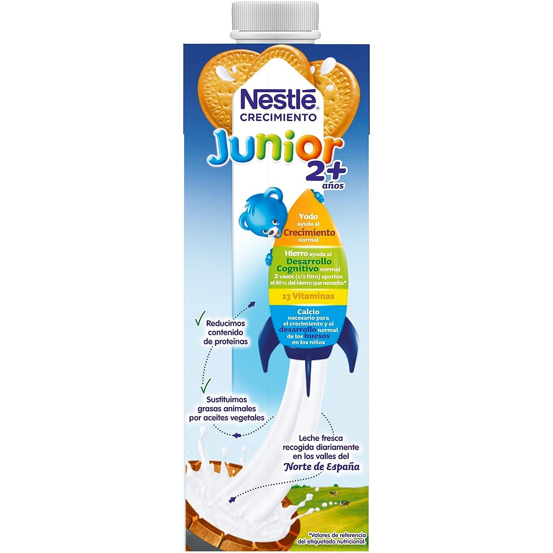 NESTLÉ JUNIOR Crecimiento 2+ Galleta María - Leche para niños a partir de 2 años - 6x1L: Amazon.es: Alimentación y bebidas