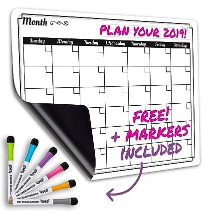 Amazon Com Dry Erase Monthly Calendar Set Large Magnetic White