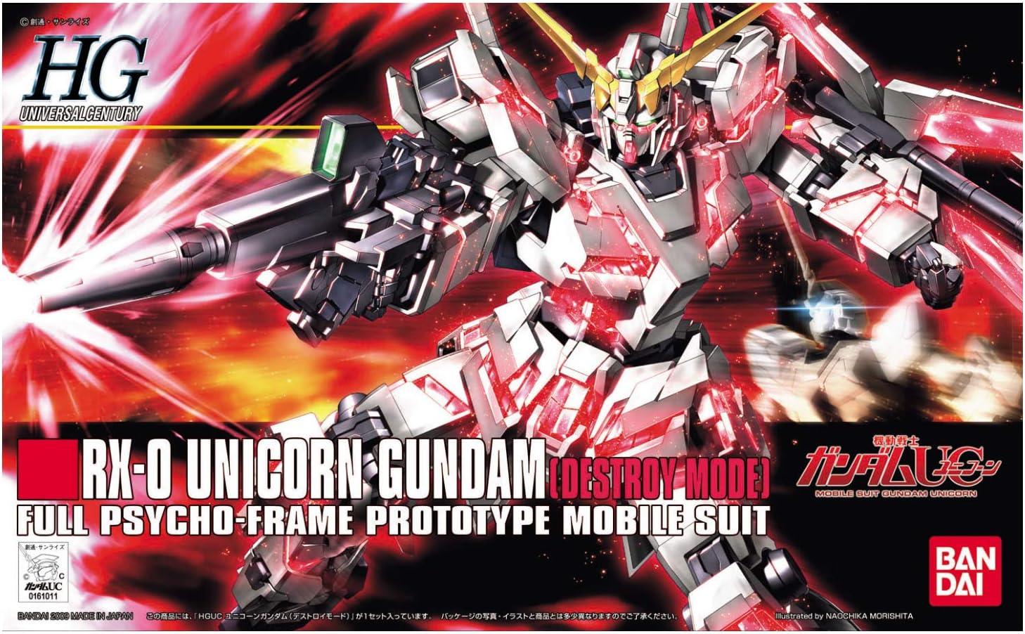 Unicorn Mode HGUC USA SELLER BANDAI HG Gundam UC 1//144 RX-0 Unicorn Gundam