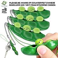 3 Pieces Fidget Toy Edmame Keychain Toys Gif Relieve Stress