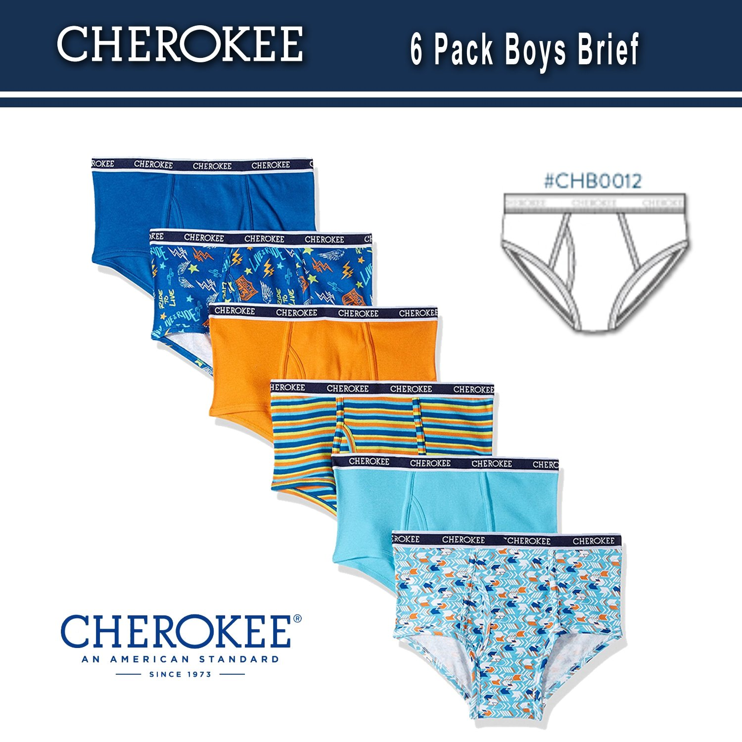 Cherokee Little Boys 6 Pack Brief, Camo/Solid Print Pack, XL by Cherokee (Image #3)