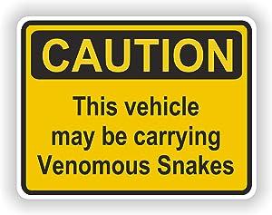 Tiukiu Venomous Snakes Caution Vinyl Sticker for Laptop Book Fridge Guitar Motorcycle Helmet Toolbox Door Luggage Cases