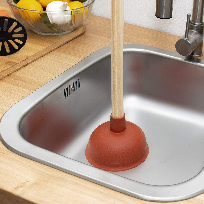 Lantelme 7703 Cloche daspiration pour salle de bain et cuisine sans produits chimiques Rouge