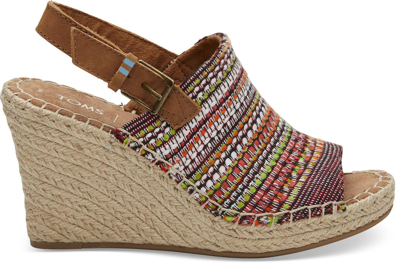 TOMS Women's Desert Wedge Black Dotted Wool Boot (38 M EU / 7.5 B(M) US, Black Metallic Synthetic Leather)