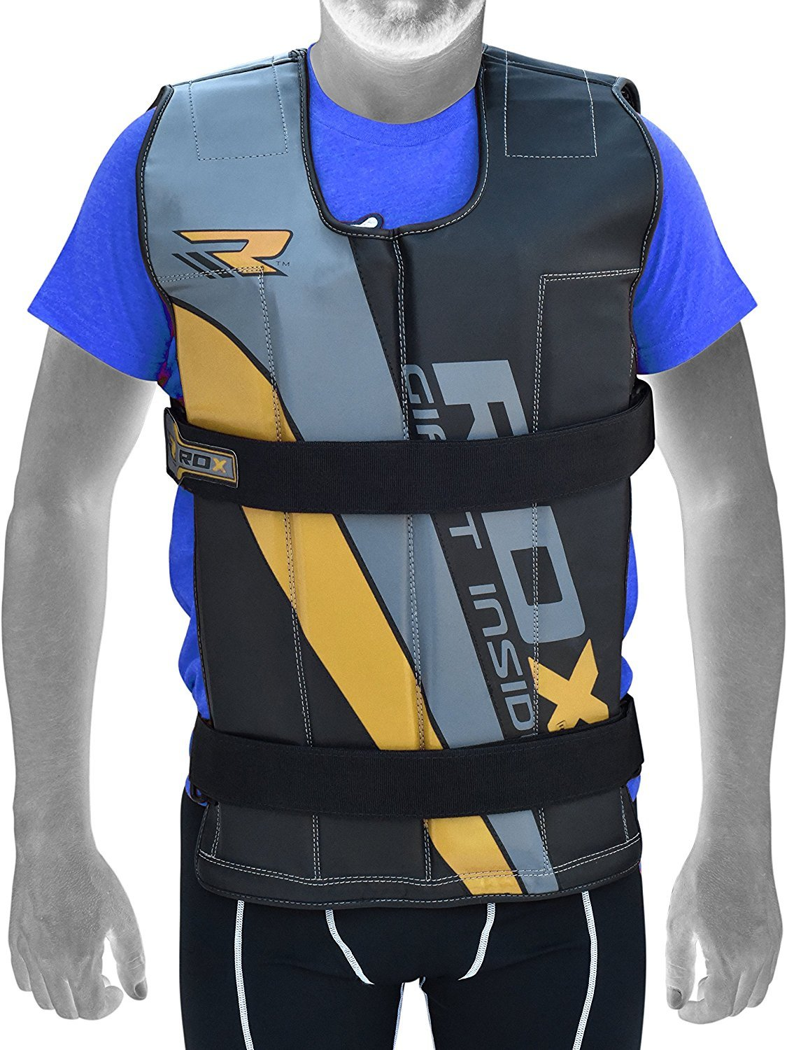 person wearing RDX weighted vest