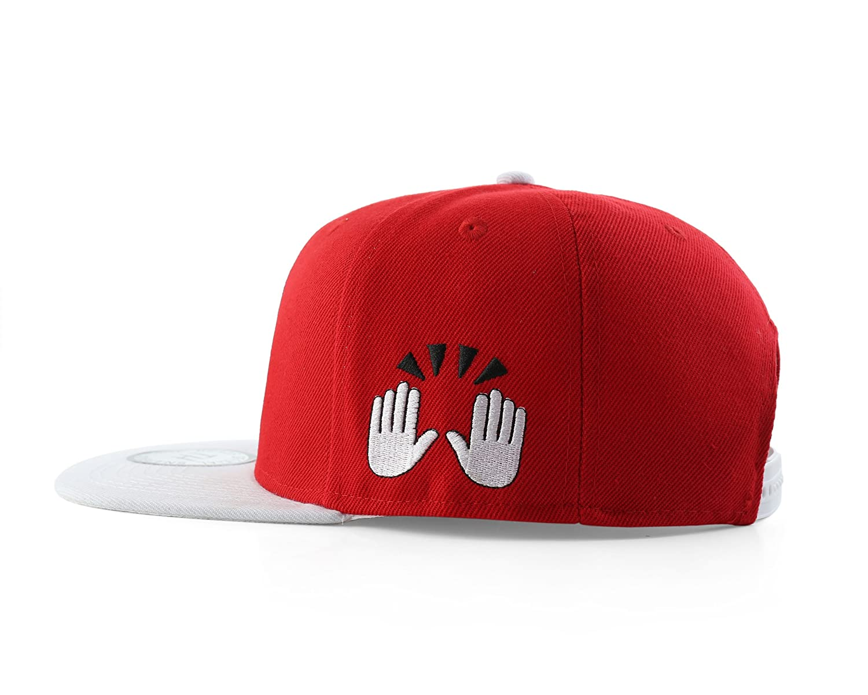 Amazon.com: True Heads OK Emoji Red Hat Snapback Baseball Cap: Sports & Outdoors