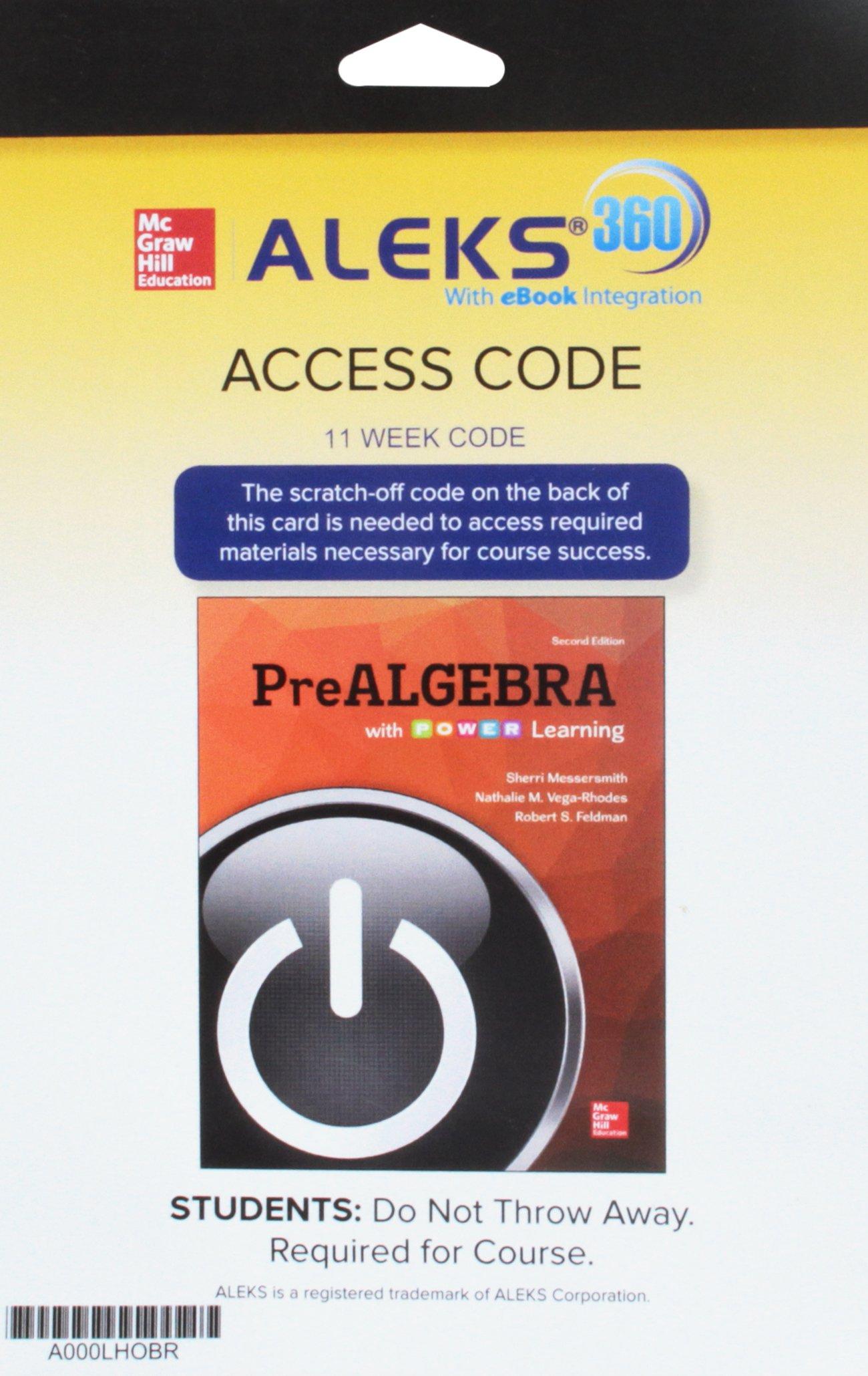 Prealgebra With P.o.w.e.r. Learning: 11-week Access Aleks 360: Amazon.es: Sherri Messersmith, Nathalie Vega-rhodes, Robert S. Feldman: Libros en idiomas ...
