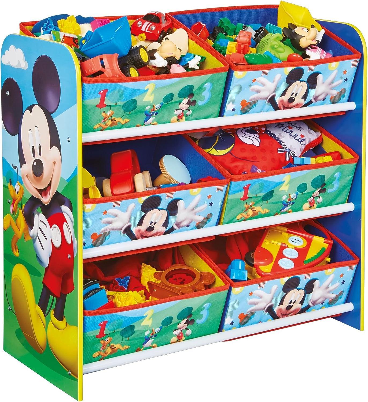 Hello Home Unidad de almacenamiento de juguete con 6cubos de Madera, Multicolor, 23 x 51 x 60 cm