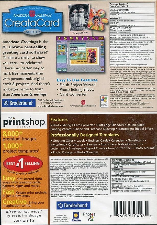 Amazon creatacard select 7 the print shop select 15 m4hsunfo