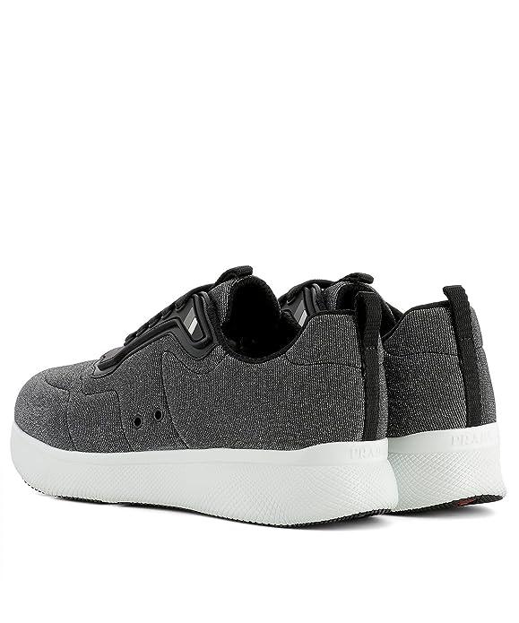 Prada Sport Damen 3E6321100vf0118 Silber Stoff Sneakers