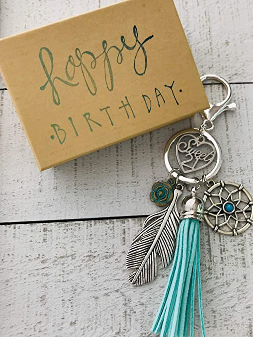 Amazon Dream Catcher 21st Birthday Gift For Her Adorable Key Chain Packaged In Hand Stamped Box Office Products