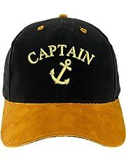 4sold Capitán Gorro Gorra Capitán Ancient Mariner, Capitán Cabin Boy Crew First Mate Yachting béisbol Gorro con Texto Oro Army Military Gorra Security Captain Talla única