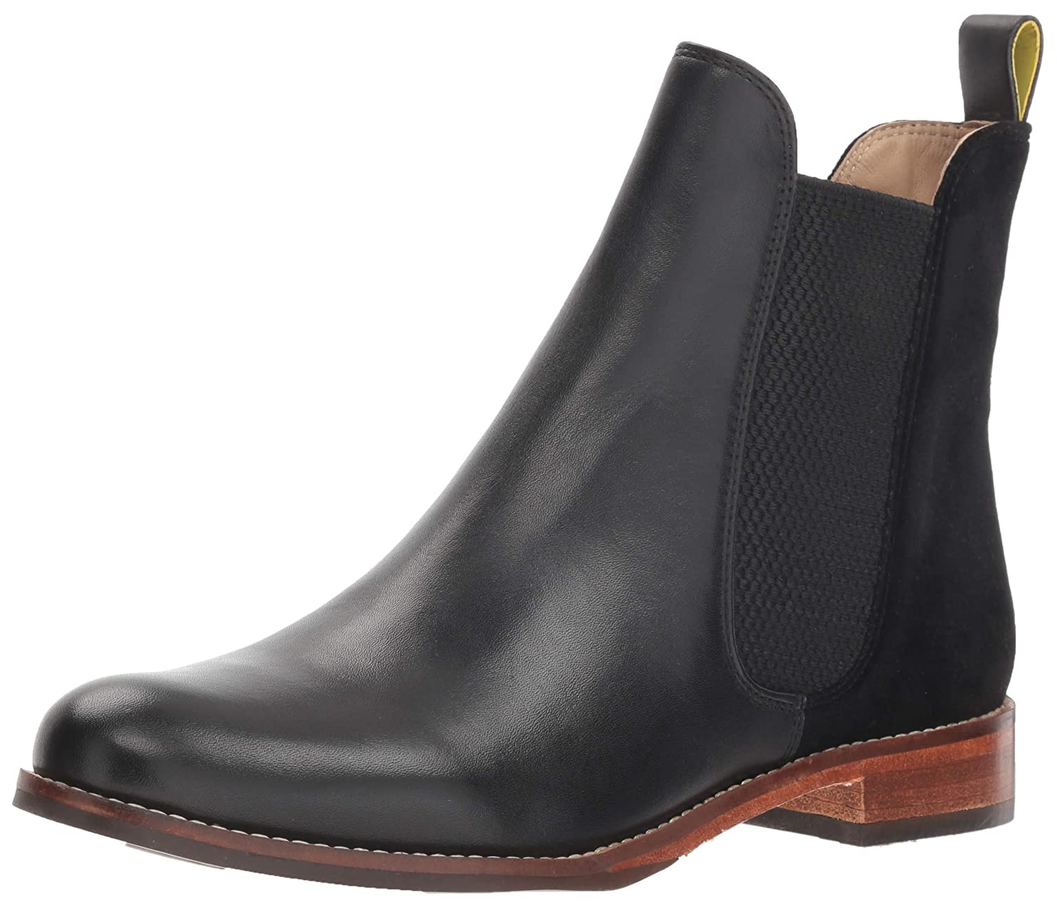 [Joules] Women's V-Westbourne High-Top Leather Rain Boot B07KSHXYFS ブラックベルベット Women's 7