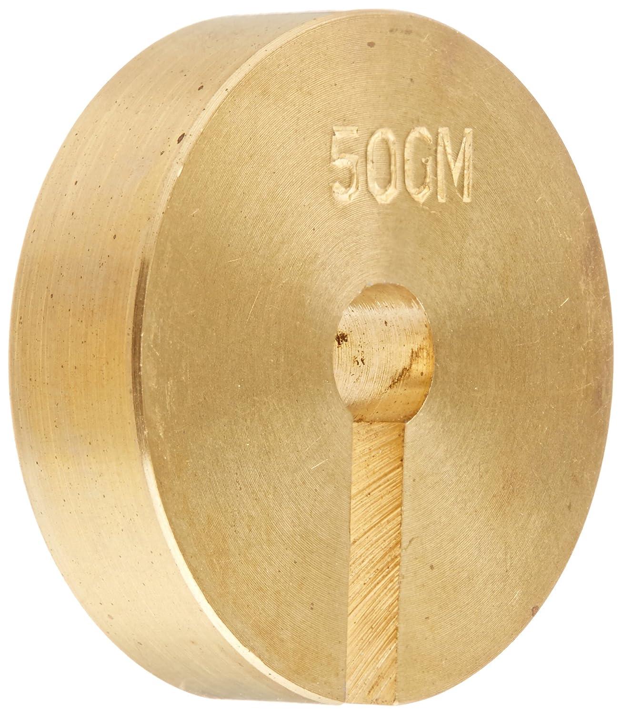 50 g Ajax Scientific ME450-0050 Brass Slotted Weight