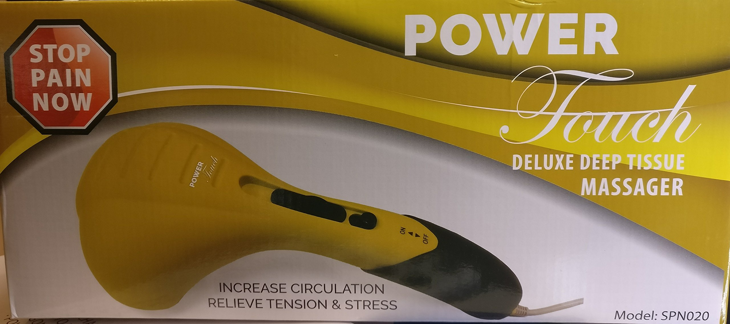 Power Touch Deluxe Deep Tissue Massager Yellow