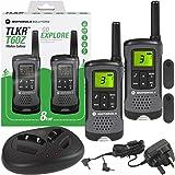 Motorola TLKR T60Z Walkie Talkie Radio with Charging Dock - Twin Pack