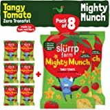 Slurrp Farm Tasty Mighty Munch | Tangy Tomato | Healthy Snack for Kids  (Pack of 8)
