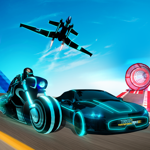 Tron Bike Transform Car Driving Simulator | Sci-fi bike adventure | Mega ramp stunts | extreme bike stunts | real car driving  simulator | Car Games | Bike games]()
