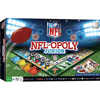 MasterPieces NFL-Opoly Junior Board Game, Collector's Edition Set, For 2-4 Players, Ages 6+: Toys & Games