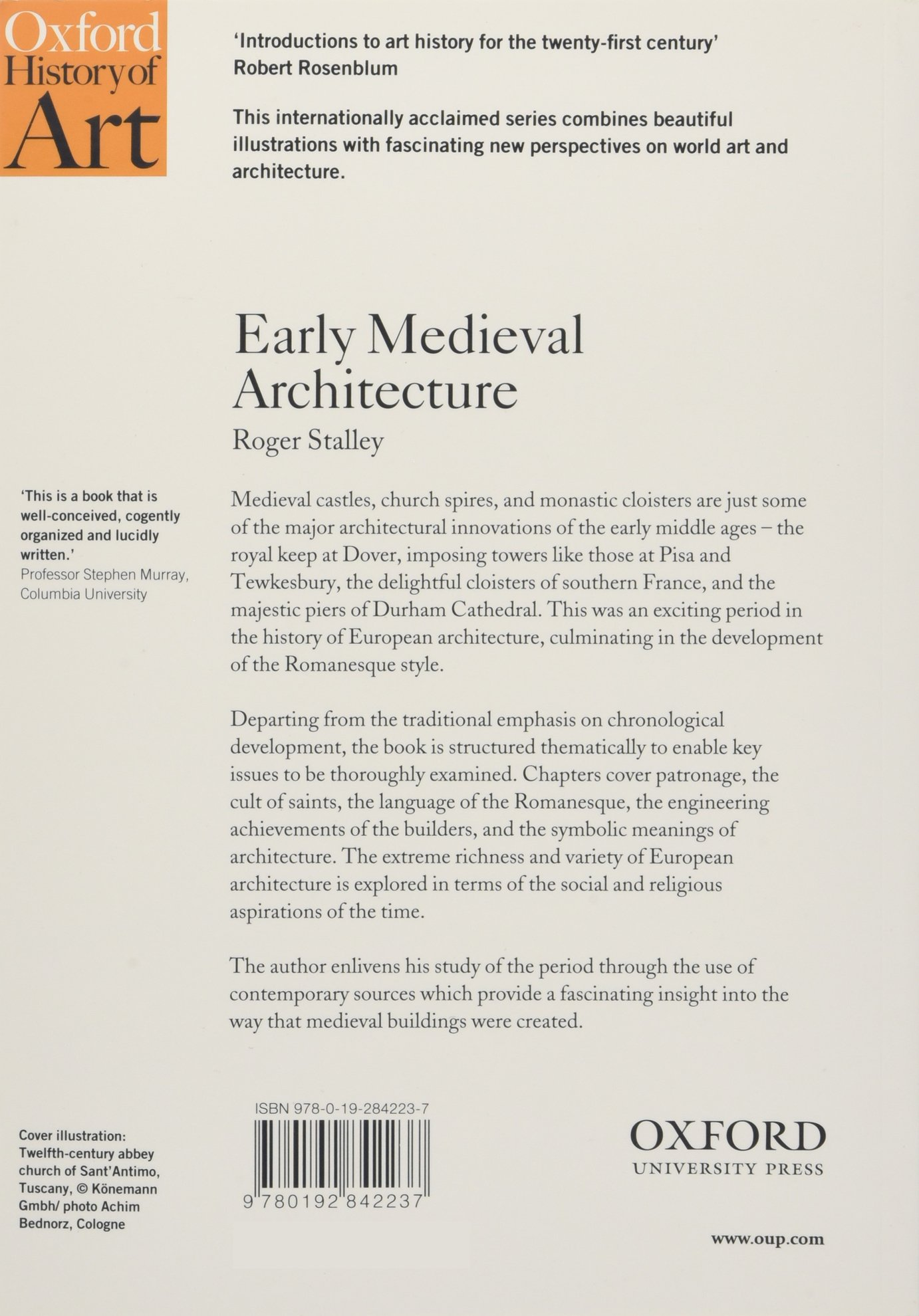 buy early medieval architecture oxford history of art book online