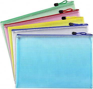 Clear Color A5 Size Paper Document Gallop Chic 50 Pcs Plastic Poly Zip Envelope