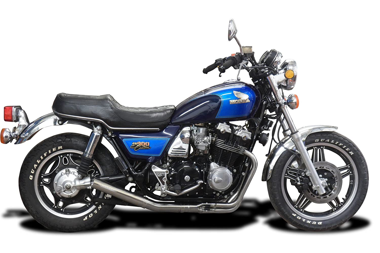 1980-1982 with Classic Straight Universal Muffler and Stainless Steel 4-1 Headers Delkevic Aftermarket Complete System compatible with Honda CB900C