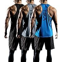 e5cabd9b2fc2c TSLA 1~3 Pack Mens Gym Muscle Tank Sleeveless Training Cool Dry Top MTN33
