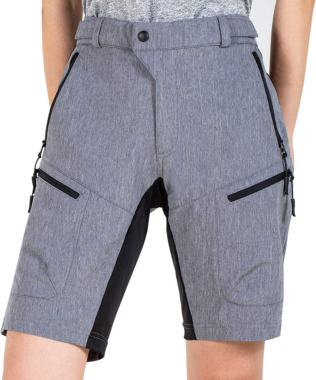 Cycorld Women's-Mountain-Bike-MTB-Shorts Baggy-Fashion-Breathable with Zip Pockets: Clothing