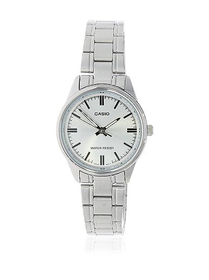 Casio LTP-V005D-7 - Reloj Analógico Para Mujer, color Gris/Plata
