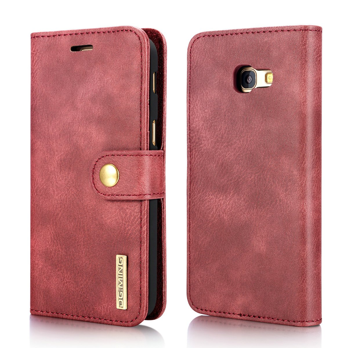 Galaxy A5 2017 Case, DG.MING Retro Cowhide Leather Magnetic Detachable 2 in 1 Flip Wallet Cover Case for Samsung Galaxy A5 2017 A520 (Black) Bestfitshop