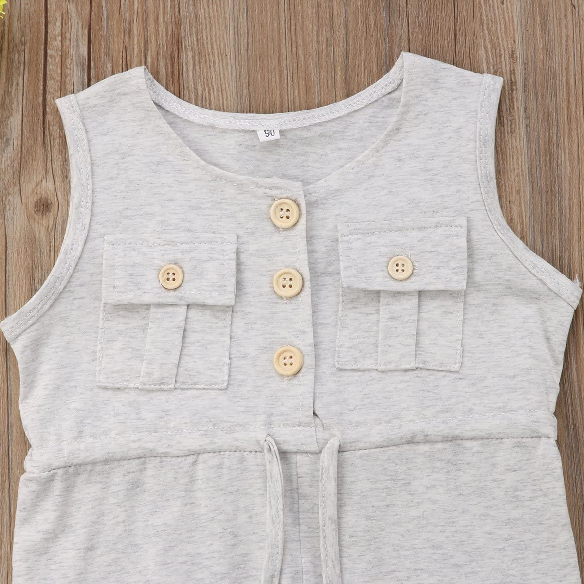 GoodFilling Toddler Kids Baby Girl Sleeveless Jumpsuit One Piece Romper Overalls Pants Outfits