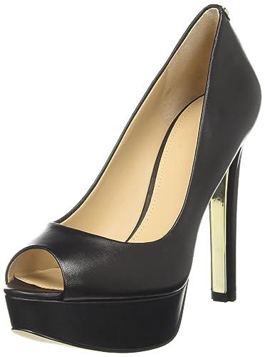 Guess Damen Footwear Dress Open Toe Plateaupumps Schwarz