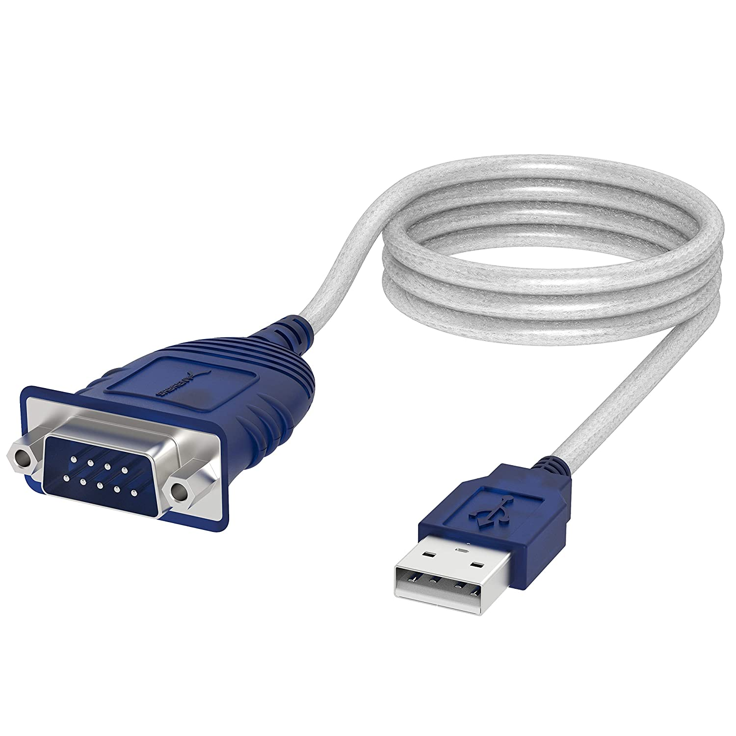 Cable Convertidor Usb 2.0 A Serial 9-pin Db-9 Rs-232 1.8mts