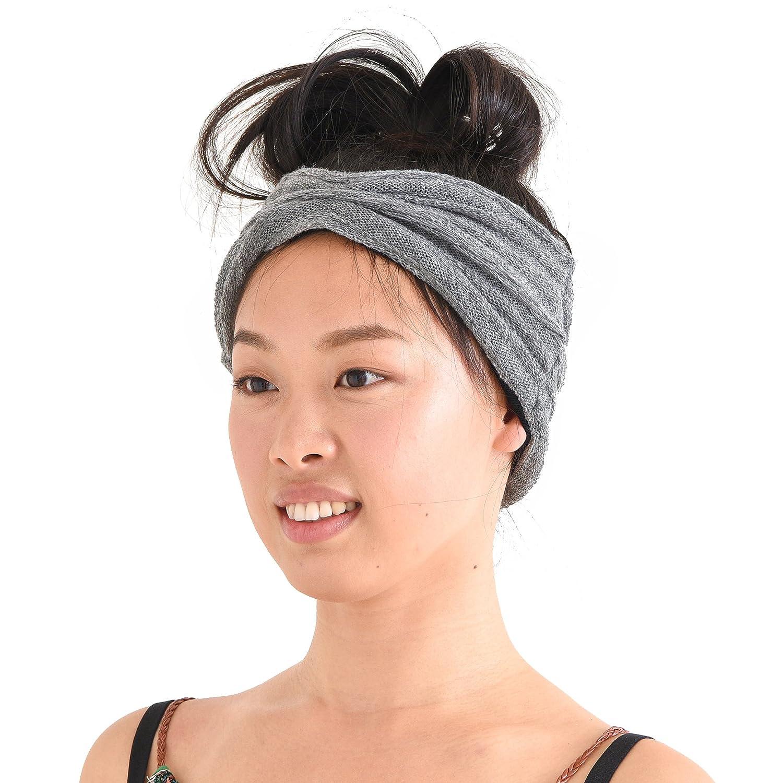 CHARM Organic Cotton Turban Headband Mens Knit Ear Warmer Hair Band Chemo Wrap Made in Japan