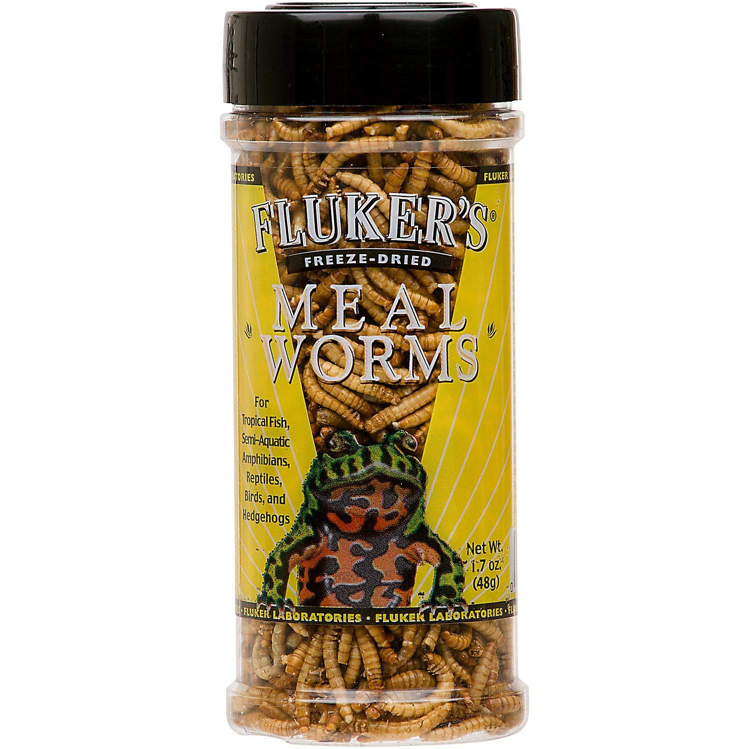 Fluker's Freeze Dried Mealworms Pet Food, 1.7-Ounce