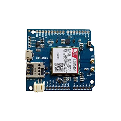 Botletics SIM7000 LTE CAT-M1 NB-IoT Cellular + GPS + Antenna Shield Kit for Arduino (SIM7000A): GPS & Navigation