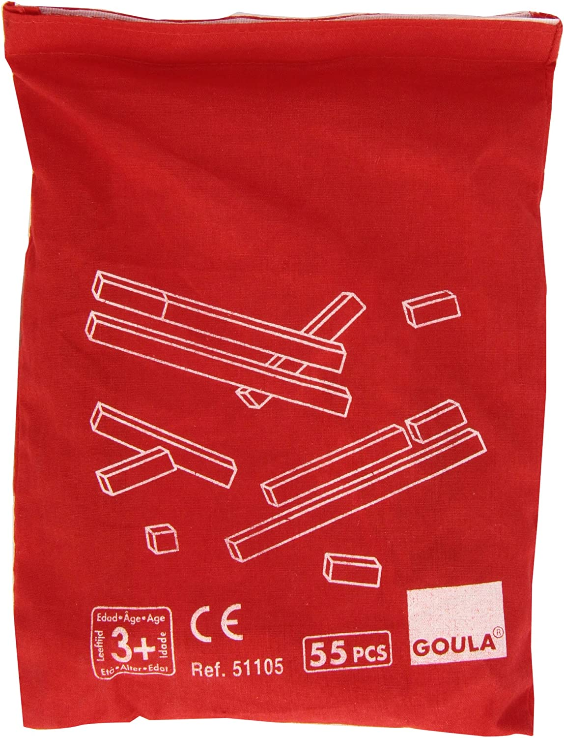 Goula- Counting Rods + Bag Regletas en Bolsa, Juego Educativo, Multicolor (51105)