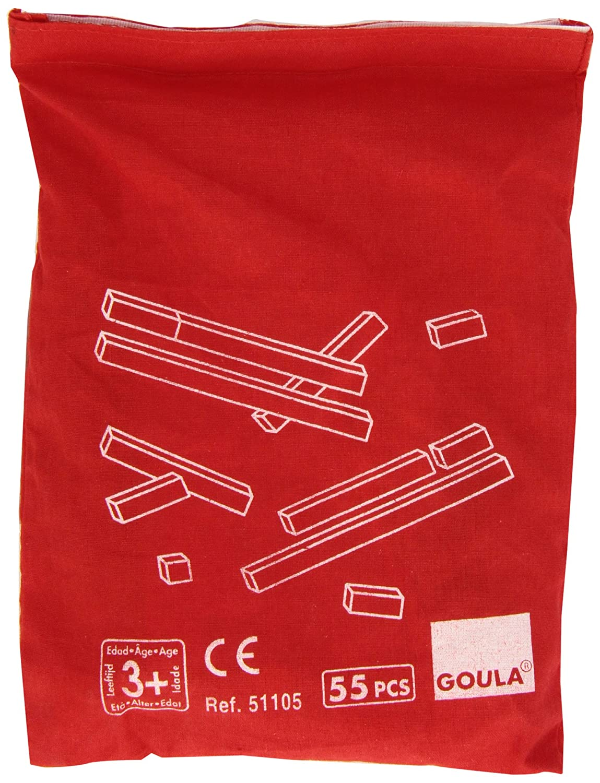 Goula - Regletas en bolsa, juego educativo (Diset 51105) D51105 caja regletas 10x10