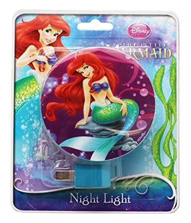 Amazon.com: Púrpura Sirenita Ariel Plug In Luz Nocturna con ...