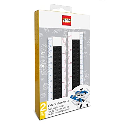 IQ Lego Buildable Ruler - Black: Toys & Games