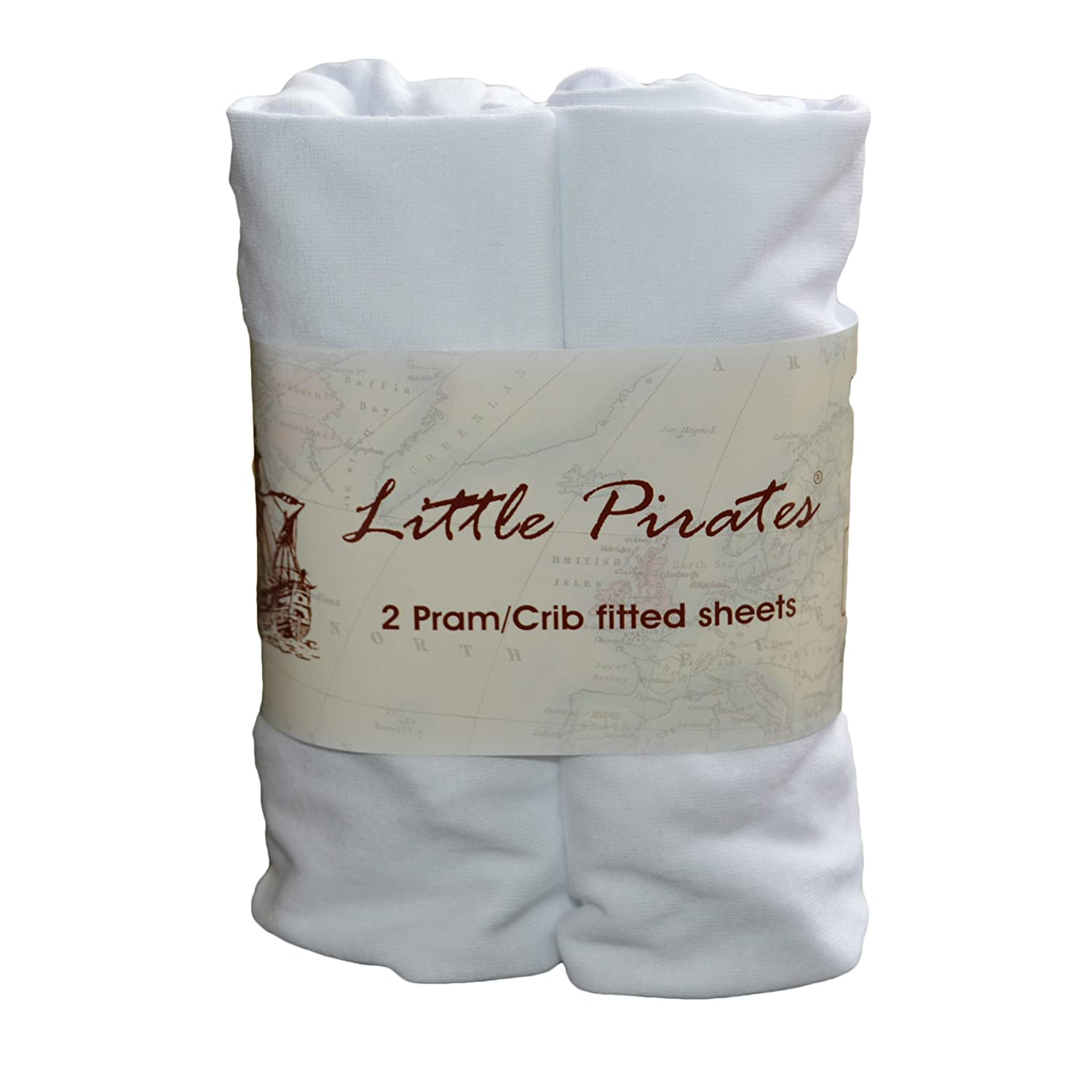 Baby Bassinet Cradle Jersey Fitted Sheet 100% Cotton White 15x33 inches by Little Pirates Bobbico Ltd