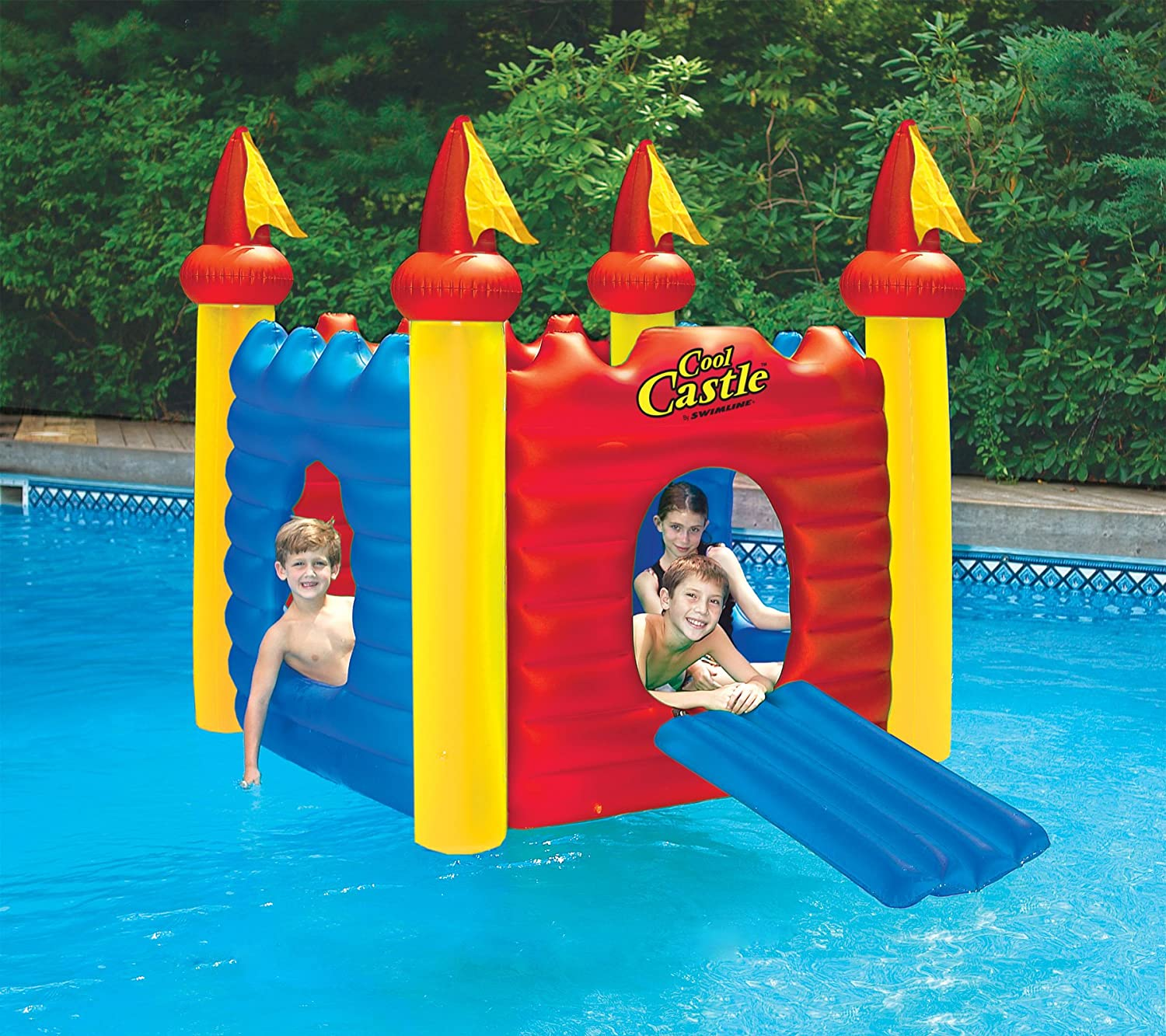 amazon com swimline cool castle inflatable playhouse and pool