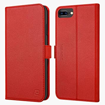 coque iphone 8 plus cuir rouge