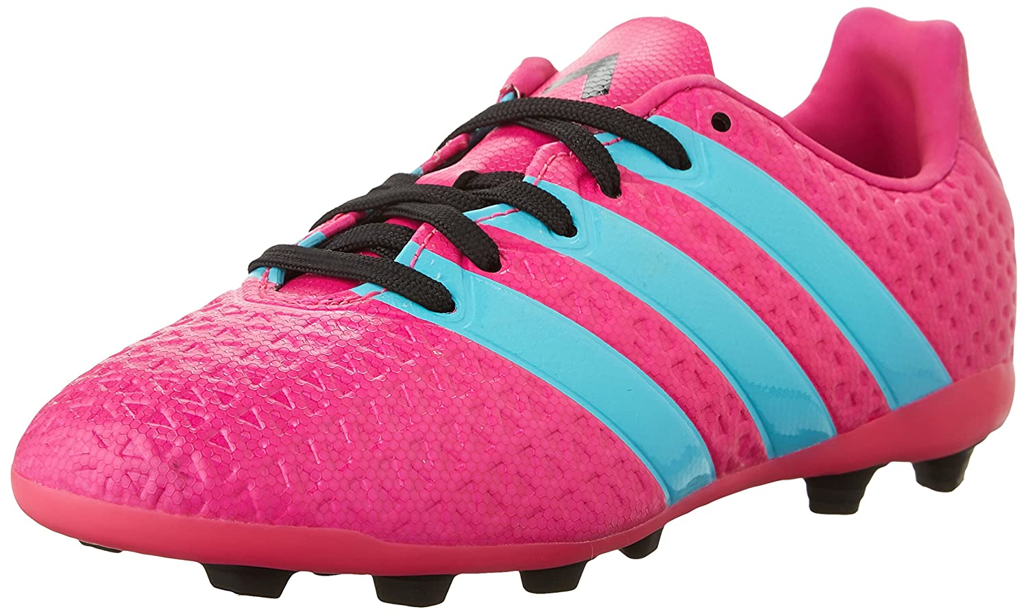 Amazon.com | adidas Performance Ace 16.4 FxG Girls Soccer Shoe  (Toddler/Little Kid/Big Kid), Shock Pink/Blue/Black, 2 M US Little Kid |  Soccer